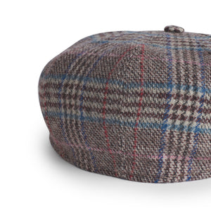 Gorra Peaky Tweed Subalpino marrón burdeos