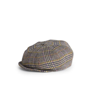 Gorra Peaky Tweed Subalpino marrón y azul