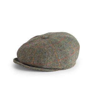 Gorra Peaky Harris Tweed verde