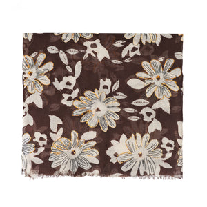 Foulard Camerucci Ibisco marrón chocolate