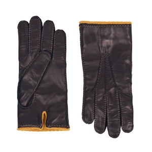 Guantes Nappa Cashmere Dark Navy L
