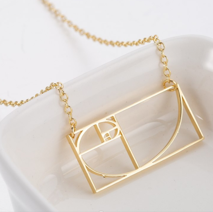 golden ratio necklace - 18k gold plated