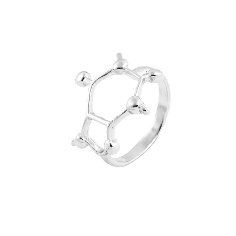 Caffeine Ring Sterling Silver Plated