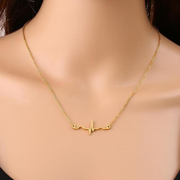 heartbeat necklace - gold plated