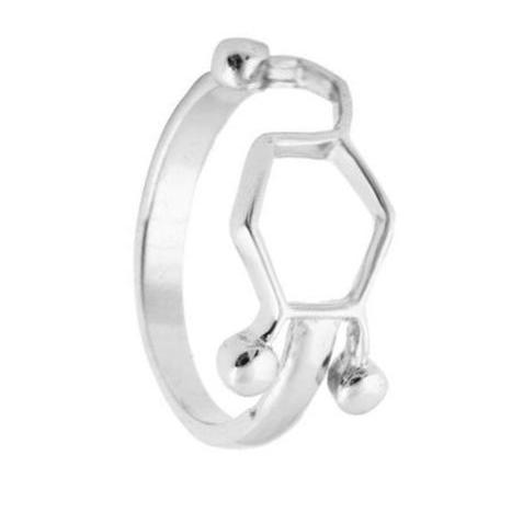 dopamine ring in 925 sterling silver plated