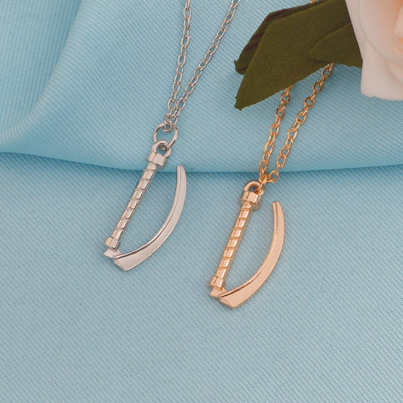laryngoscope necklace sterling silver and gold