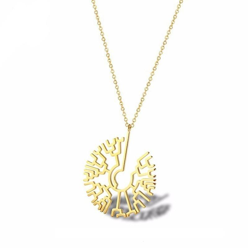 phylogenic tree necklace - 14k gold plated