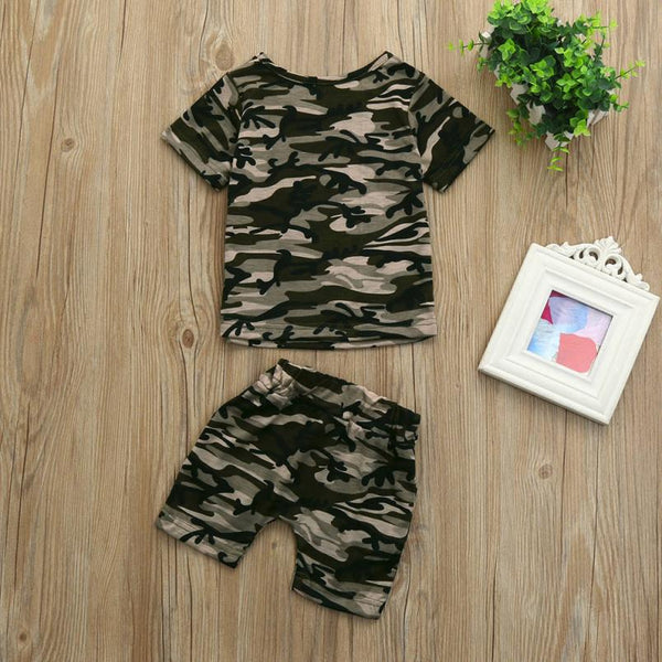 Baby Boys Camouflage Outfit