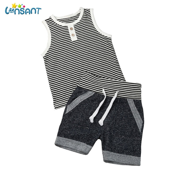 Stripe Sleeveless Outfit Set