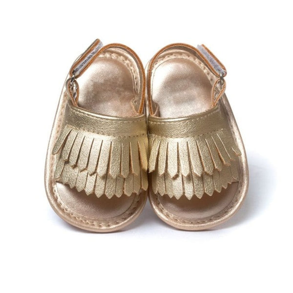 PU Fringed Baby Sandals