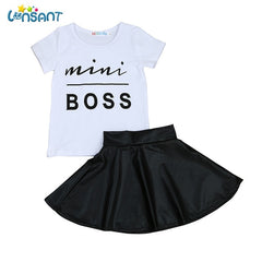 Cute T Shirt +Skirt Summer Set