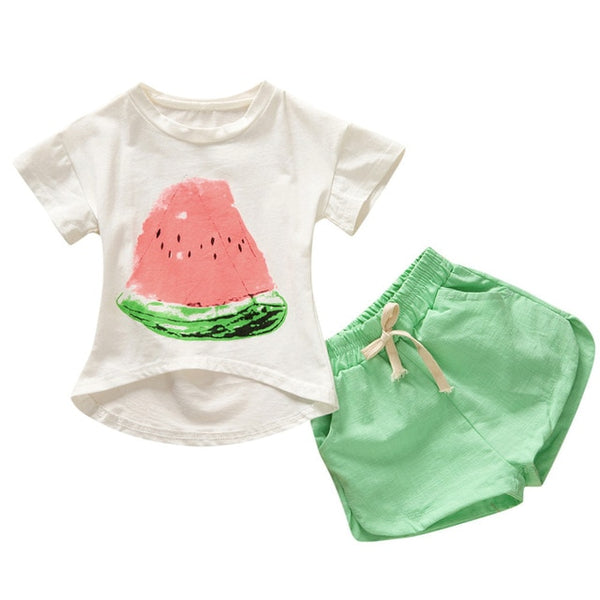 Watermelon T-shirt+Shorts Outfits