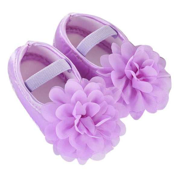Chiffon Flower Walking Shoes