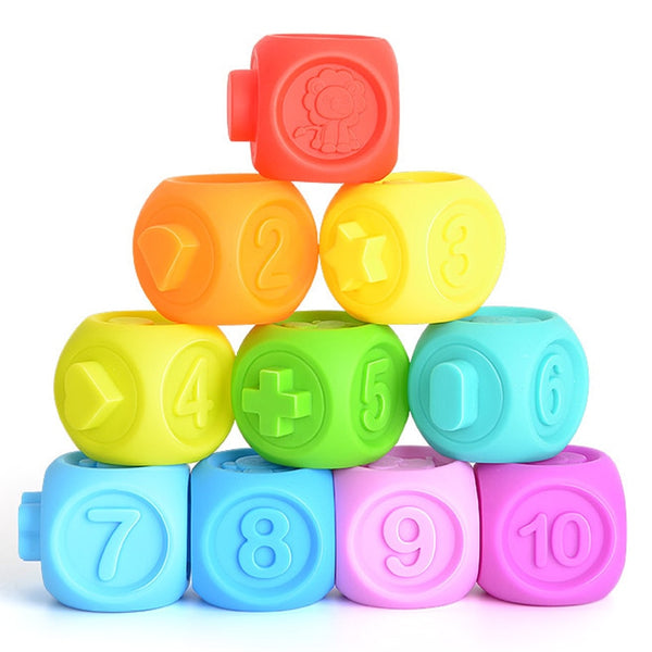 Building Blocks Rubber Toys