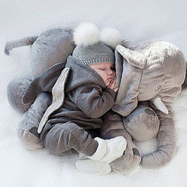Warm Hooded Baby Jumpsuit
