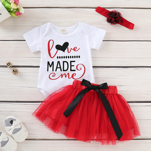 Romper + Tutu Skirt Outfits Set