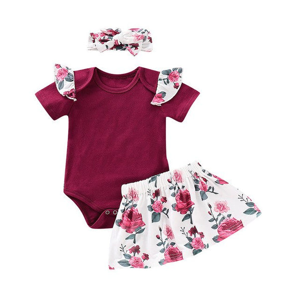 Floral Skirts Clothing Set