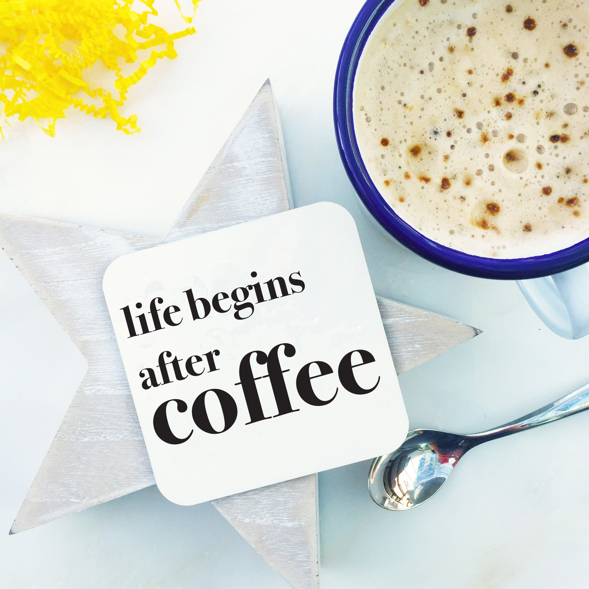 Life begins after coffee coaster coconutgrass for Gifts and homewares