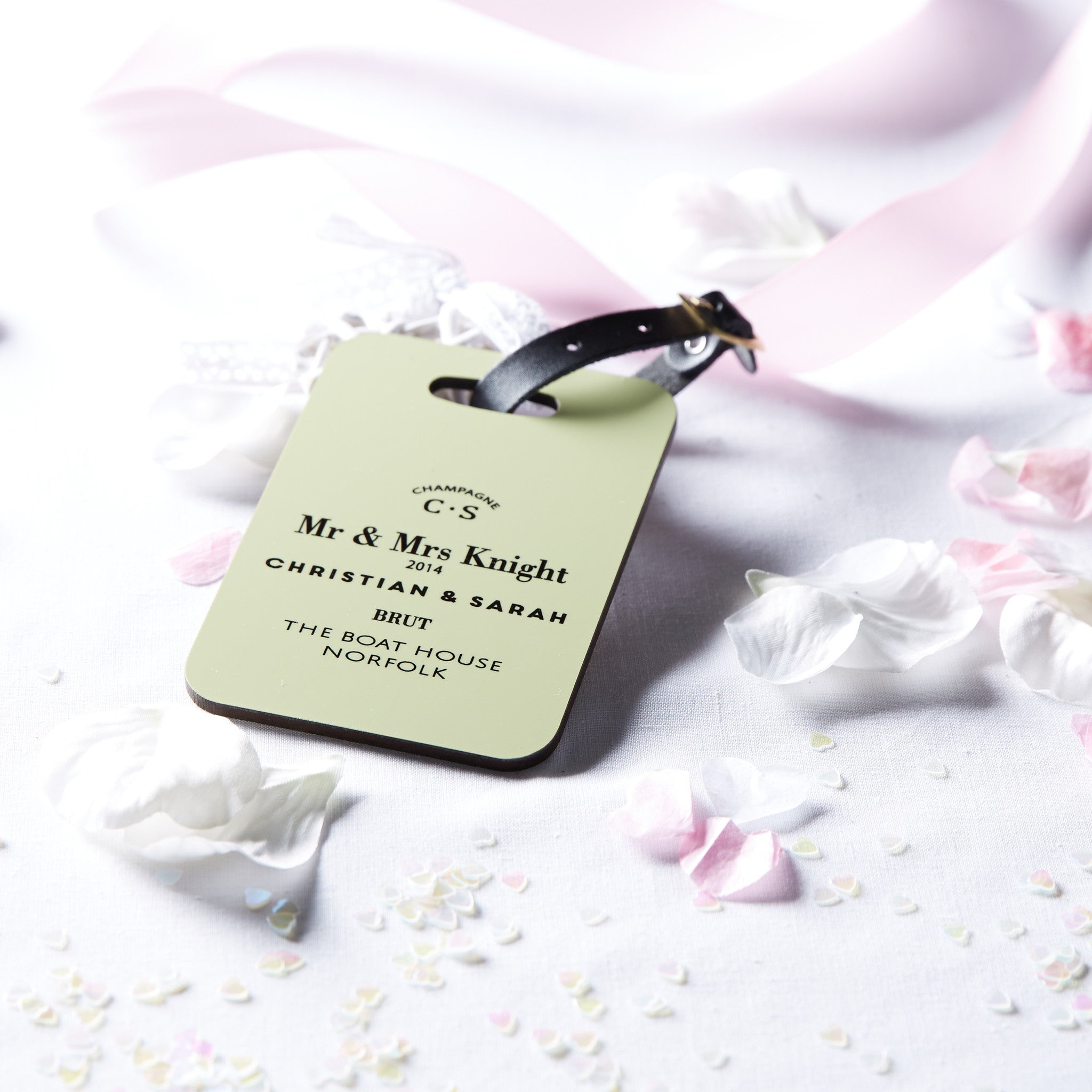 Personalised Wedding/Couple\'s Luggage Tag - coconutgrass