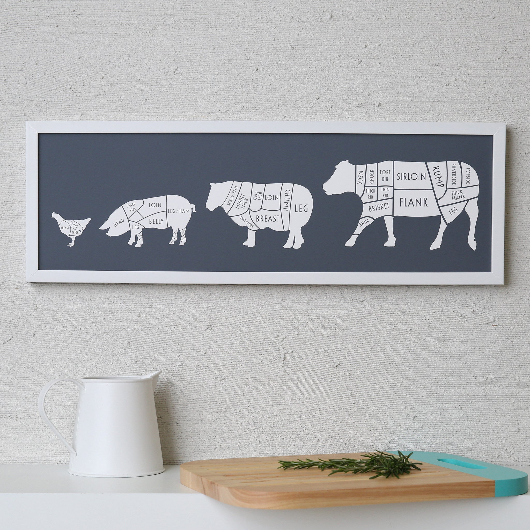 Butcher's Kitchen quattro print - coconutgrass