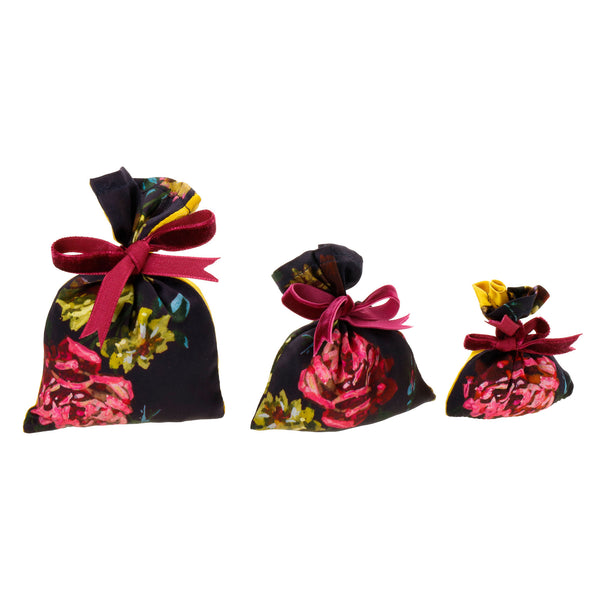 "Silk Lavender Bag, Deep Purple and Yellow ""Paris 1927"" - Castlebird Rose"