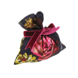 "Silk Lavender Bag, Deep Purple and Yellow ""Paris 1927"" - House of Castlebird Rose"
