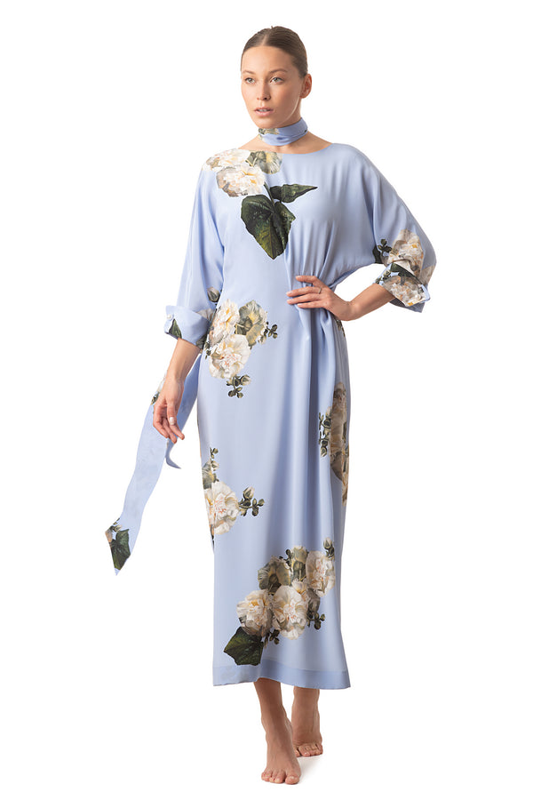 Long casual dress sky blue - Castlebird Rose