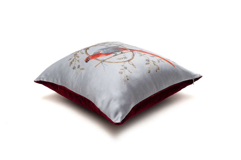 Cushion French Blue ''Le Perroquet'' - Castlebird Rose