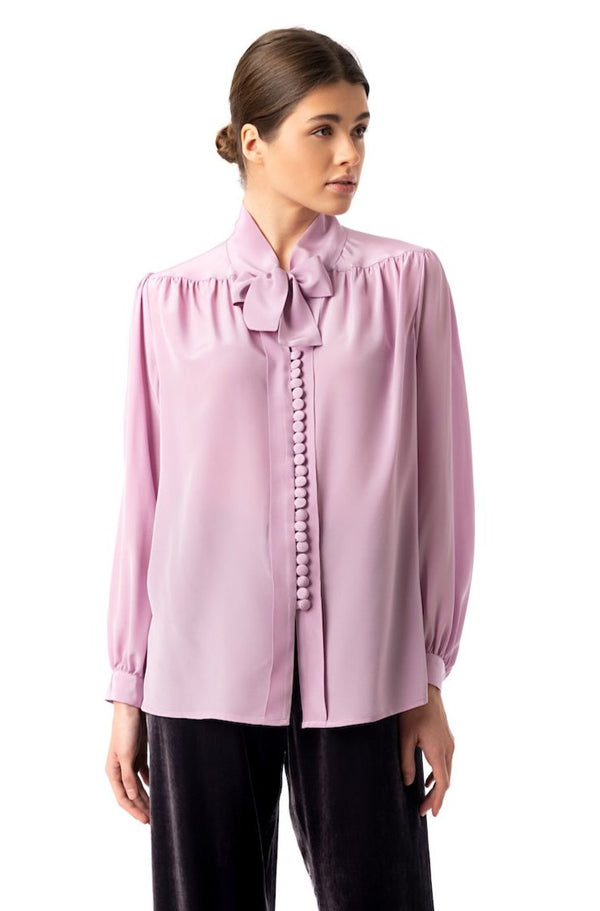''Silky Weekend'' Blouse rose pink - Castlebird Rose