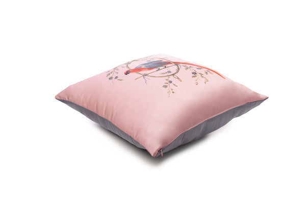Cushion French Pink ''Le Perroquet'' - Castlebird Rose