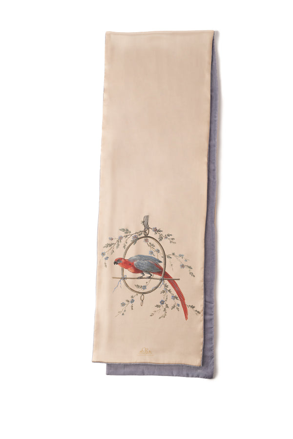Scarf Gold ''Le Perroquet'' - House of Castlebird Rose