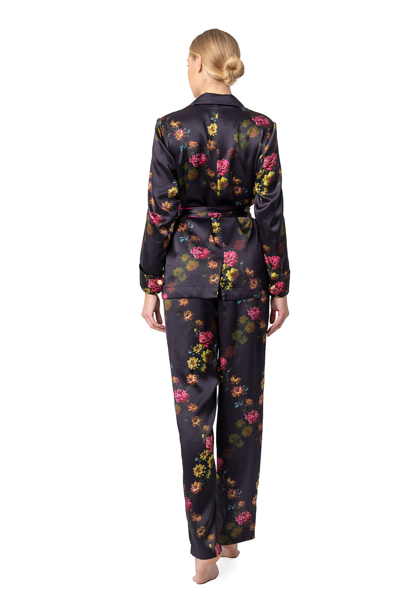 Silk lounging suit deep purple ''Paris 1927'' - Castlebird Rose
