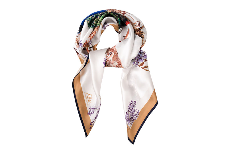 Peacock scarf radiant white - House of Castlebird Rose