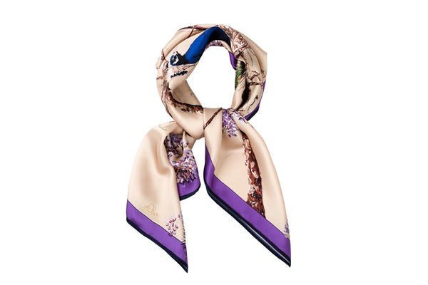 Peacock scarf royal gold - House of Castlebird Rose