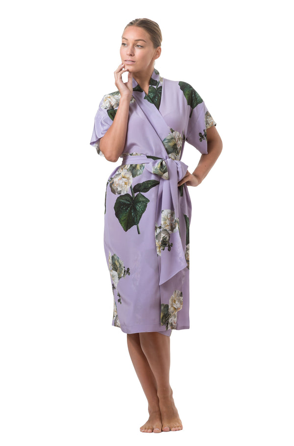 Short wrap dress lilac - Castlebird Rose