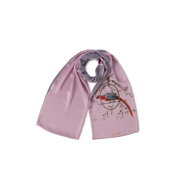 Scarf French Pink ''Le Perroquet'' - House of Castlebird Rose