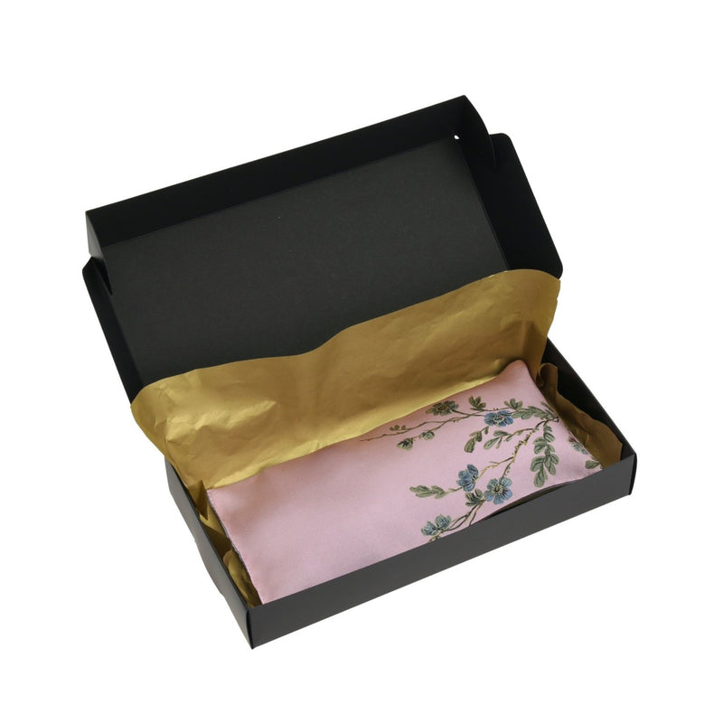 Rest-Your-Eyes Silk Lavender Pillow, French Pink ''Le Perroquet'' - House of Castlebird Rose