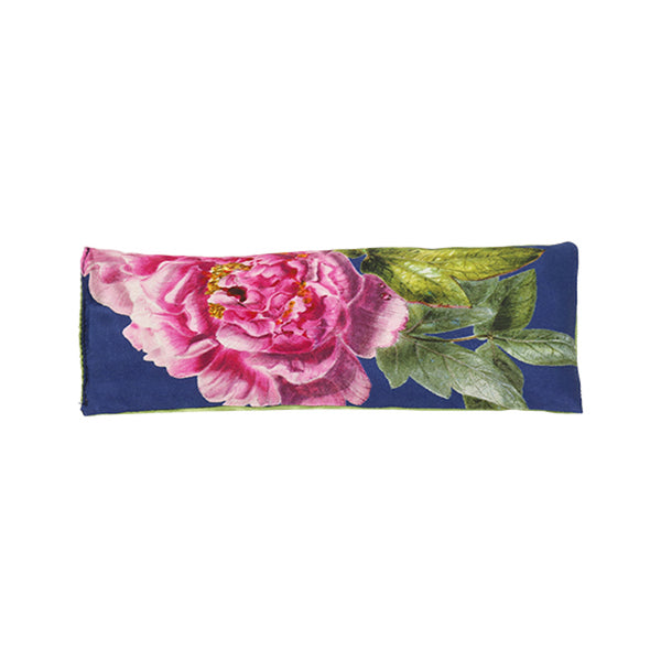 Rest-Your-Eyes Silk Lavender Pillow, Royal Blue ''La Pivoine'' - Castlebird Rose