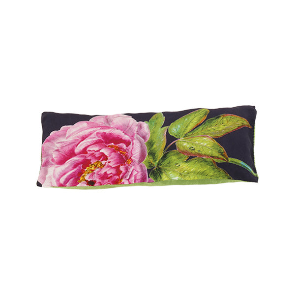 Rest-Your-Eyes Silk Lavender Pillow, Midnight Blue ''La Pivoine'' - Castlebird Rose