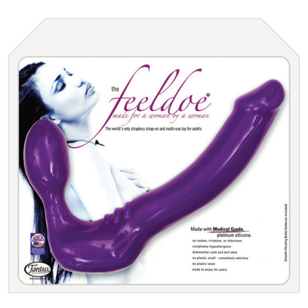 FEELDOE VIBRATING STRAPLESS STRAP-ON
