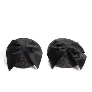 Burlesque Pasties Glitter & Satin Bow
