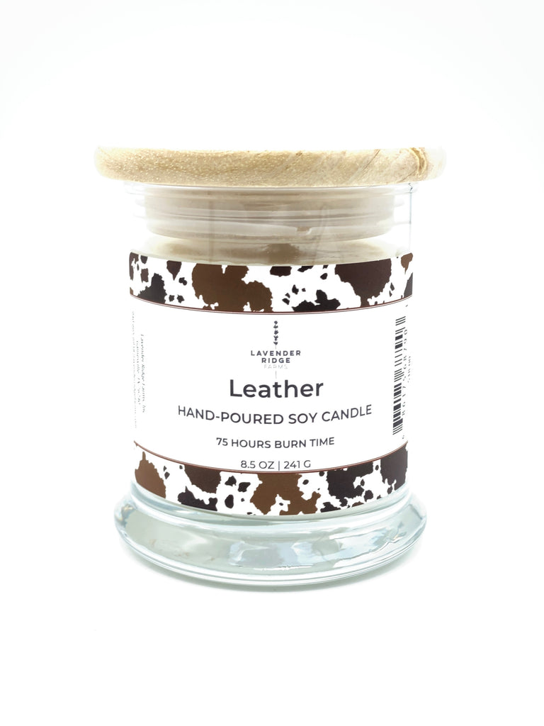 Leather Soy Wax Candle