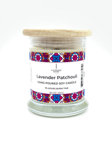 Lavender Patchouli Soy Wax Candle