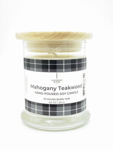 Mahogany Teakwood Soy Wax Candle