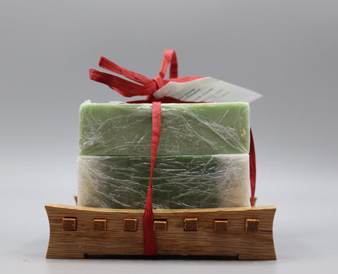 Gift Set - 2 Pk Handmade Soap with Soap Deck