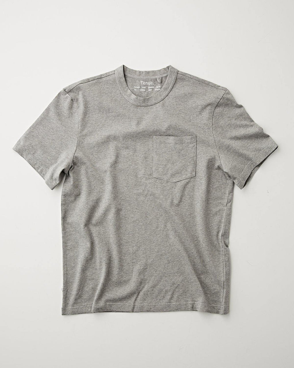 John Pocket Tee Heather Grey
