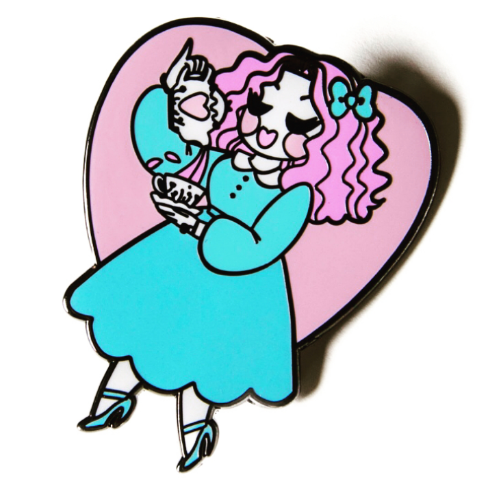 Tea Time (pink and purple) Pin