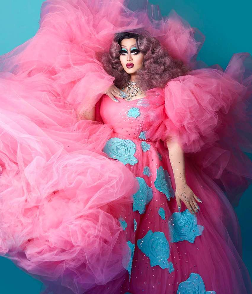 Kim Chi 8x10 (pink and blue)