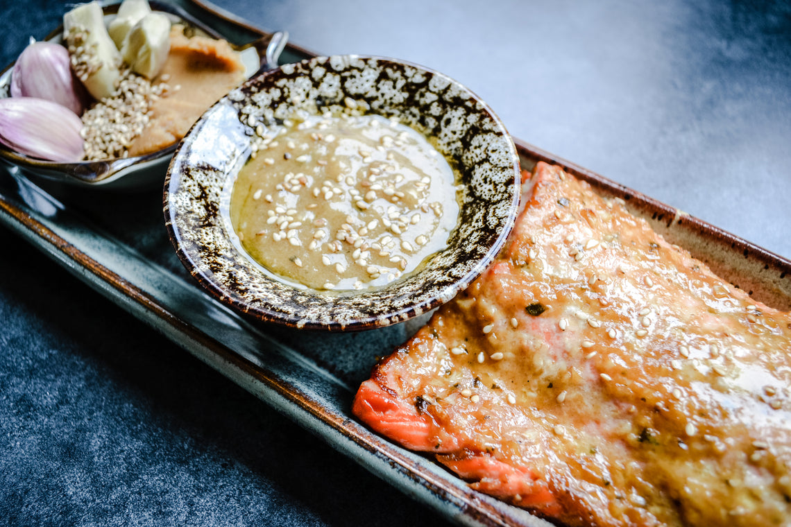Sesame-Miso Marinade with Wild-Caught Salmon