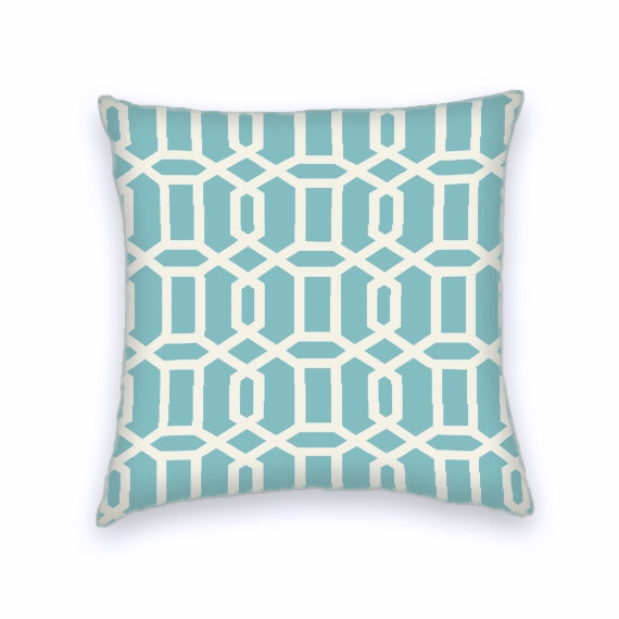 Light Blue Taupe Cotton Geometric Decorative Throw Pillow Cover EBay Classy Light Blue Throw Pillow Covers